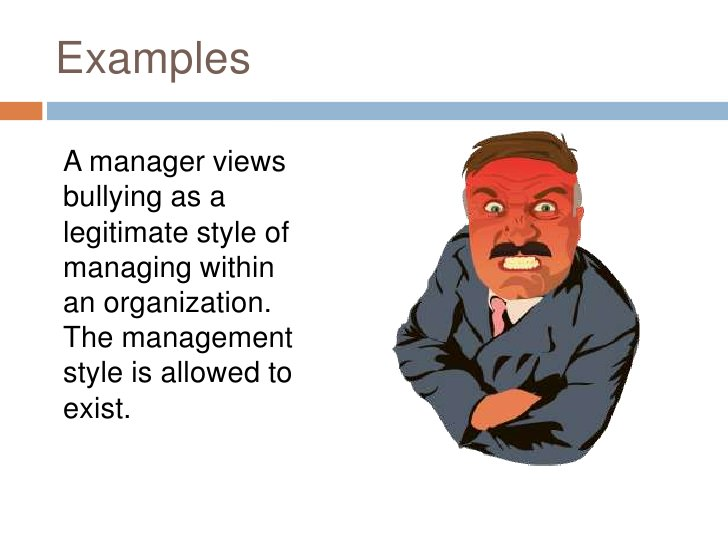 Management Bullying