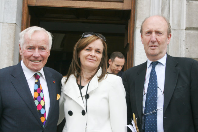 Feargal Quinn, Lorna Nolan and Shane Ross
