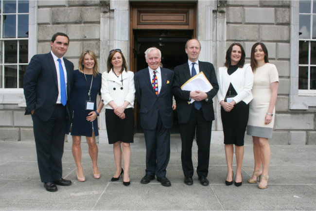 Some members of the new Independent Alliance - Kevin Callan, Carol Hunt, Lorna Nolan, Feargal Quinn, Shane Ross, Niamh Kennedy and Deirdre O'Donovan