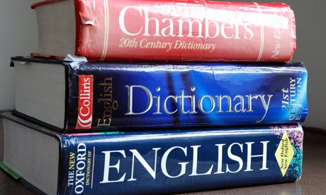 English dictionaries
