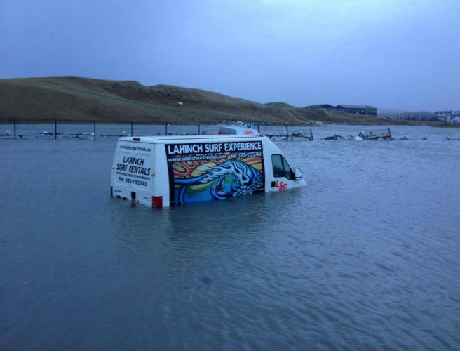 Van in Flood